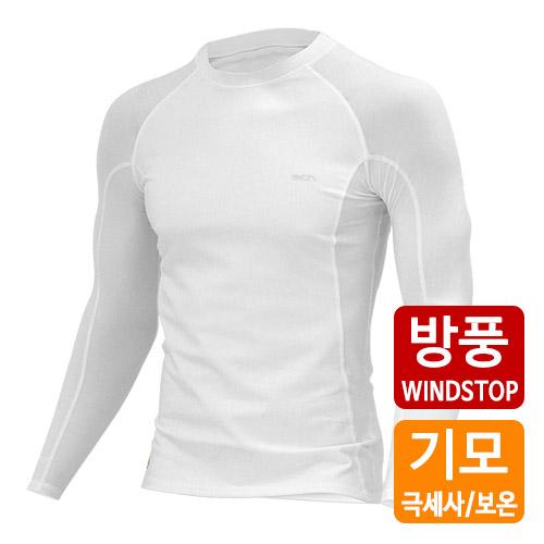 [더산스포츠]x 겨울용 (MTW-WS-015_WT)방풍 이너웨어 상의_화이트