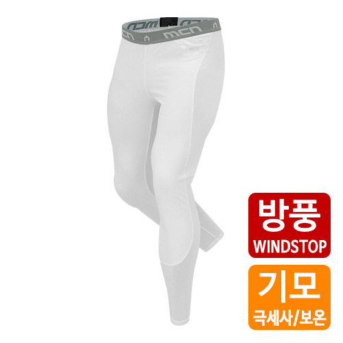 [더산스포츠]x 겨울용 (MPW-WS-015_WT)방풍 이너웨어 하의_화이트