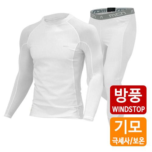 [더산스포츠]x 겨울용 (SET-WS-015_WT)방풍 이너웨어 세트_화이트