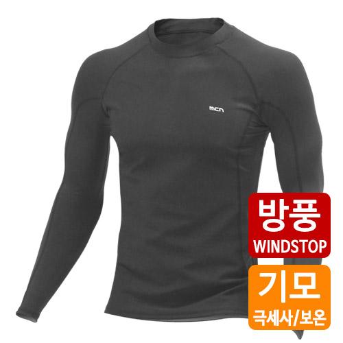 [더산스포츠]x 겨울용 (MTW-WS-015_BK)방풍 이너웨어 상의_블랙