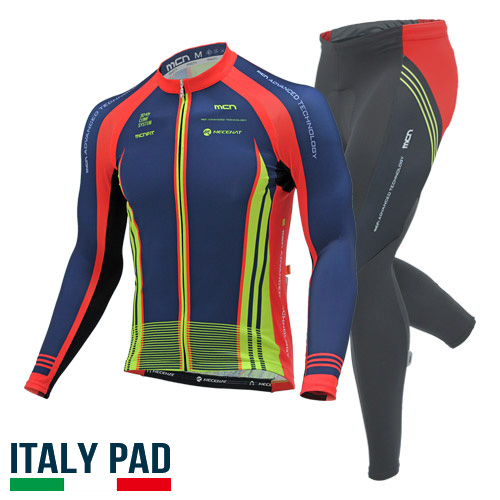 [더산스포츠](LUCANO SET) 루카노 세트기능성 사이클링 웨어 세트(봄~가을용) 긴팔져지+9부 패드바지자전거의류 자전거복 사이클웨어 라이딩 세트