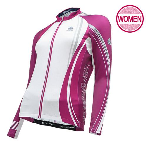 [더산스포츠](WCJL-SPARKY PURPLE)여성 스파키 퍼플 긴팔 져지 (봄~가을용)자전거의류 자전거복 사이클웨어 인라인 라이딩 상의