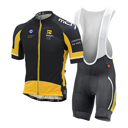 [더산스포츠](INOX-BIB SET_YELLOW)이녹스 반팔져지+4부 패드빕 세트_옐로우 (여름용)자전거의류 자전거복 사이클웨어 라이딩 세트
