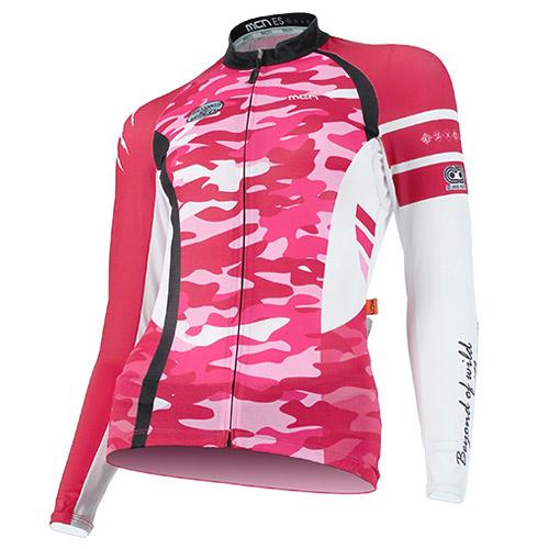 [더산스포츠](CJL-WILD CAMO_PINK) (여성용) 와일드카모 핑크 긴팔 져지 (봄~가을)자전거의류 자전거복 사이클웨어 인라인 라이딩 상의