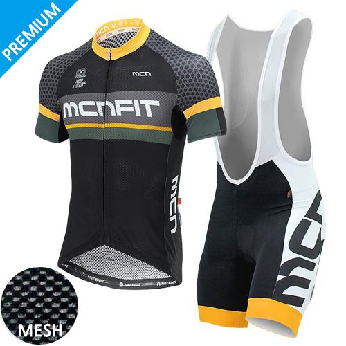 [더산스포츠](LUMEN SET_BLACK)루멘 블랙 매쉬 반팔 져지+4부빕숏 세트 (여름용)자전거의류 자전거복 사이클웨어 라이딩 세트