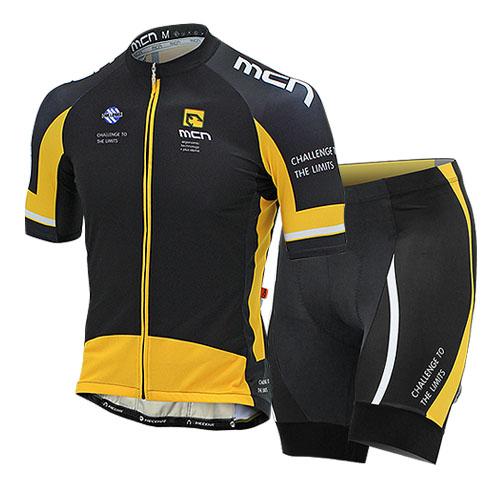 [더산스포츠](INOX-SET_YELLOW) 이녹스 반팔져지+4부 패드바지 세트_옐로우여름 자전거의류 자전거옷 자전거복 싸이클웨어 라이딩세트
