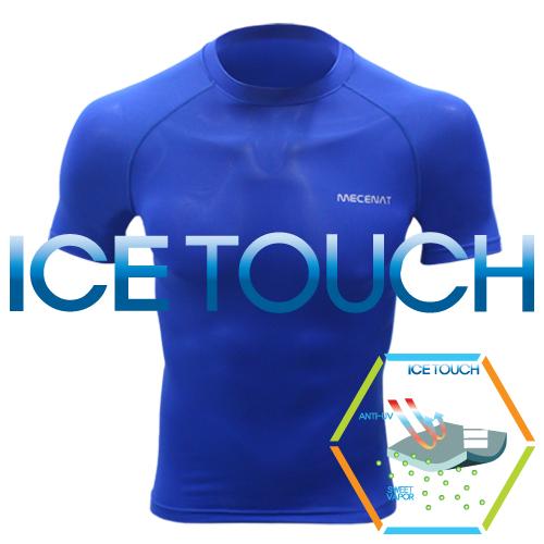 [더산스포츠]x 여름용 (IN-11) 아이스터치 기능성 반팔 냉감셔츠